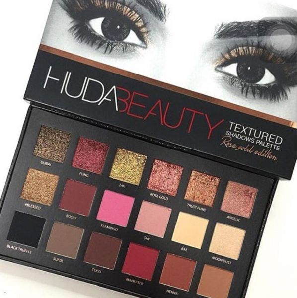 Huda Beauty Rose Gold Edition 18 สี