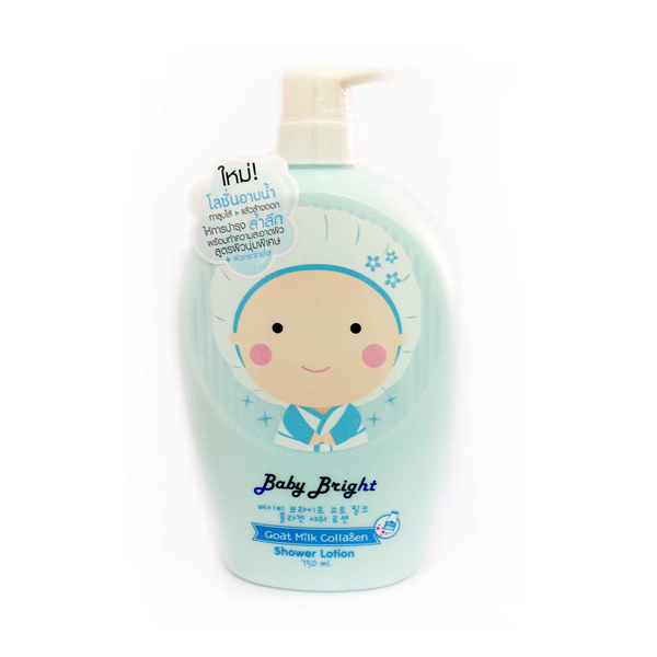 โลชั่นอาบน้ำ Baby bright goat milk collagen shower lotion 750ml