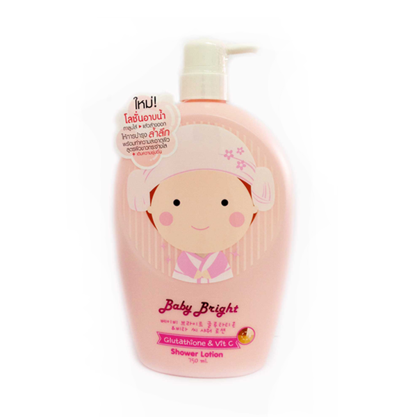 โลชั่นอาบน้ำ Baby bright glutathione vit c shower lotion 750ml.